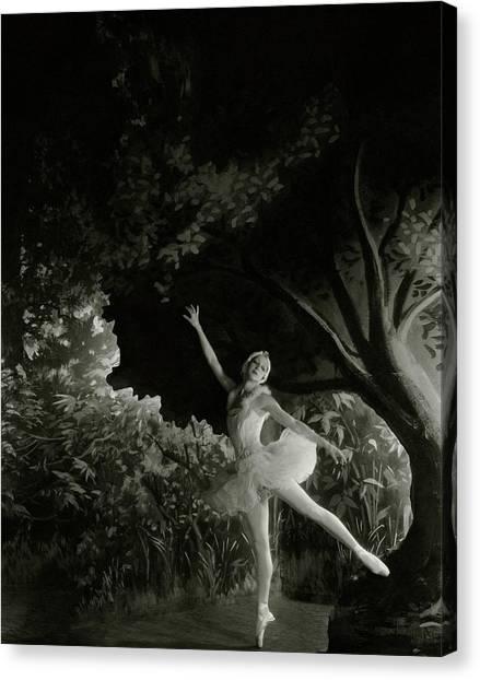 Alexandra Danilova In Swan Lake Canvas Print by Cecil Beaton