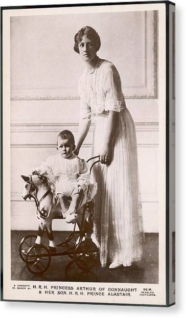Alexandra Duchess Of Connaught Wife Canvas Print by Mary Evans Picture Library