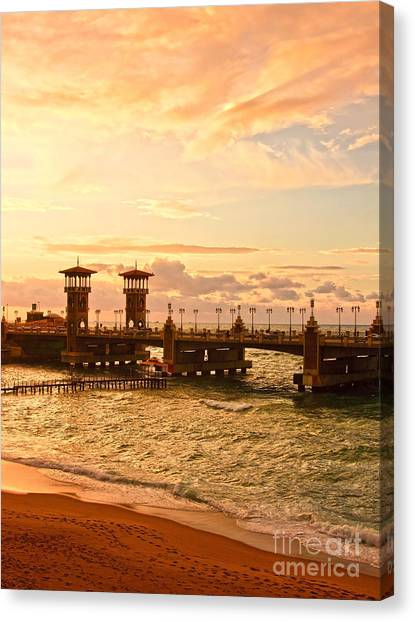 Alexandria Stanley Bridge Canvas Print