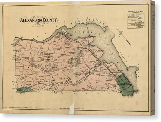 Alexandria Virginia 1878 Canvas Print