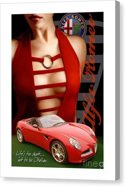 Alfa Romeo Dress Canvas Print