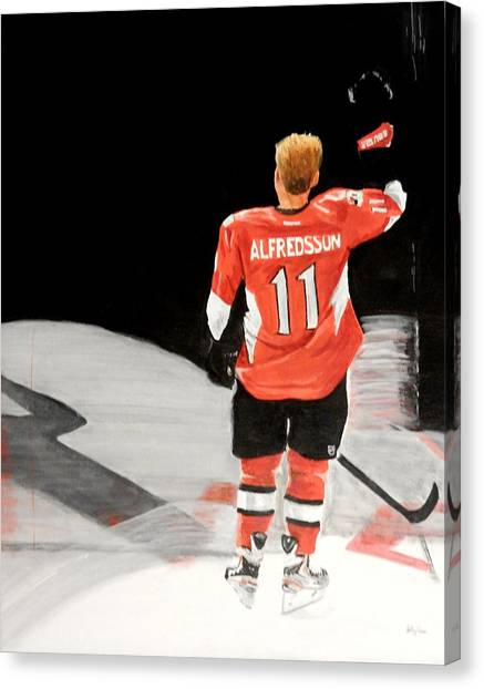 Ottawa Senators Canvas Print - a Bientot by Betty-Anne McDonald
