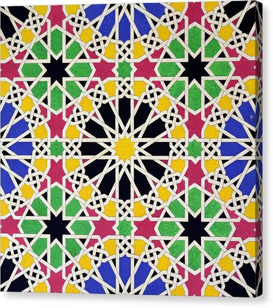 Alhambra Canvas Print - Alhambra Mosaic by James Cavanagh Murphy