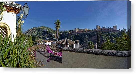 Spanish Fort Canvas Print - Alhambra Palace From Albaicin, Granada by Panoramic Images
