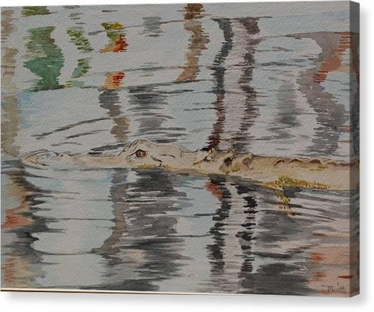 Ali The Alligator Canvas Print