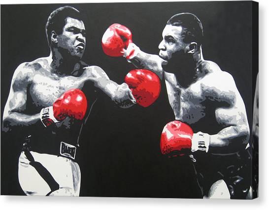 Muhammad Ali Canvas Print - Ali V Tyson by Geo Thomson