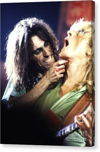 Chris Walter Canvas Print - Alice Cooper 1975 by Chris Walter