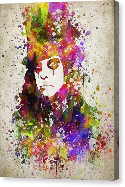 Alice Cooper Canvas Print - Alice Cooper In Color by Aged Pixel