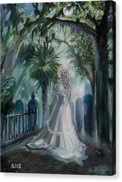 Canvas Print - Alice Flagg - The Ghost Of Murrells Inlet by Jane Woodward