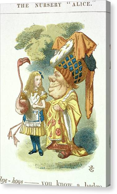 English And Literature Canvas Print - Alice With Her Croquet by British Library