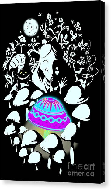 Design Canvas Print - Alice's Magic Discovery by Sassan Filsoof
