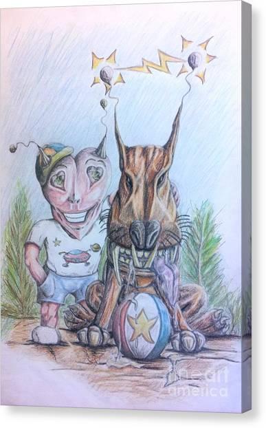 Alien Boy And His Best Friend Canvas Print