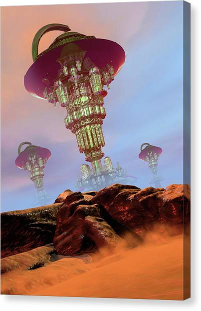 Alien City Canvas Print by Victor Habbick Visions