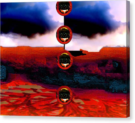 Alien Deposit Canvas Print by Dane Ann Smith Johnsen