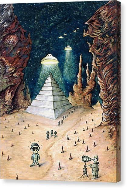 Alien Invasion - Space Art Painting Canvas Print