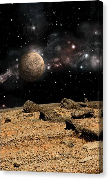 Alien Landscape No.8b Canvas Print