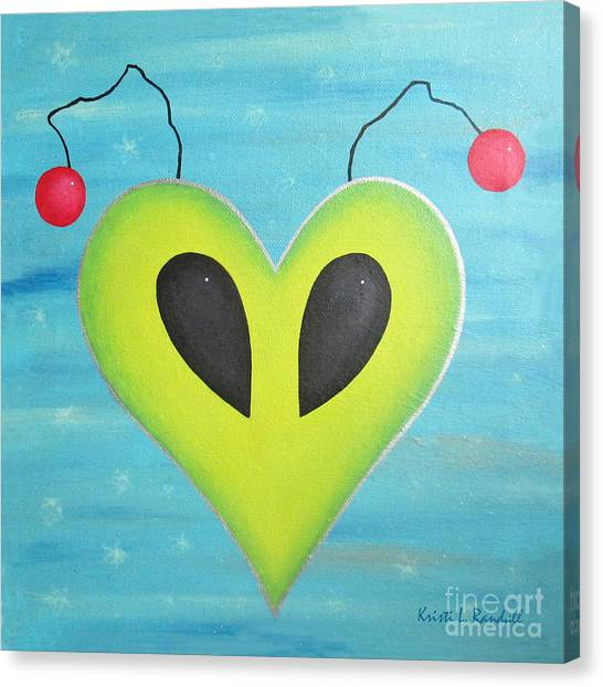 Alien Love Canvas Print by Kristi L Randall