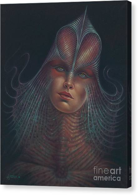 Alien Portrait Il Canvas Print