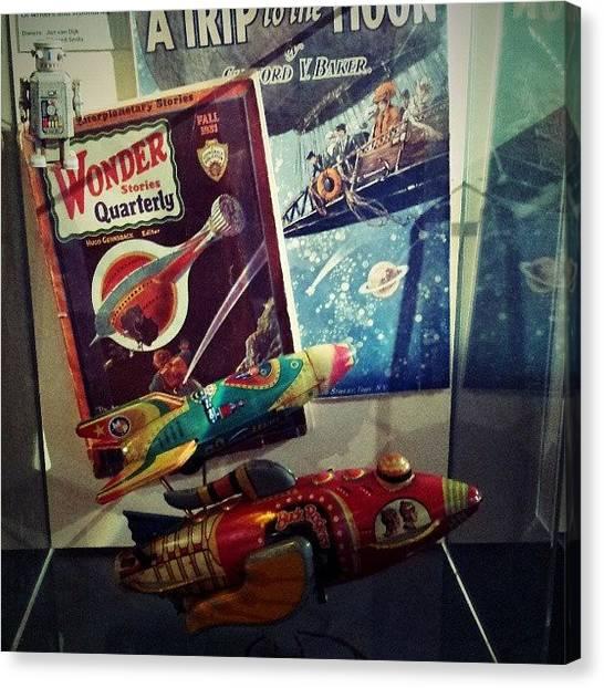 Case Canvas Print - #alien #trip #vintage #love by Esty  Van h