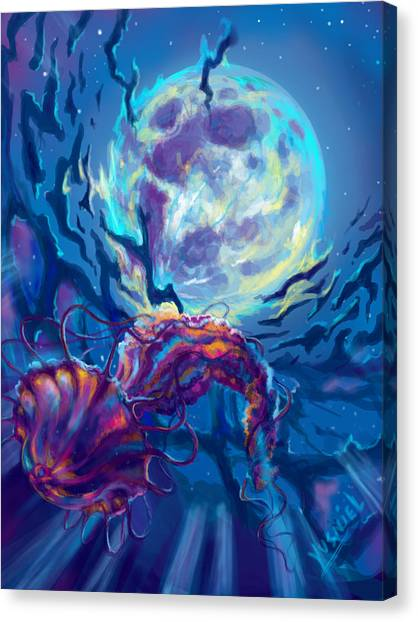 Trout Canvas Print - Two Worlds by Yusniel Santos