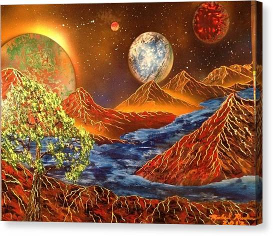 Canvas Print - Alien Worlds by Michael Rucker