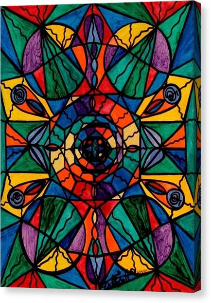Sacred Canvas Print - Alignment by Teal Eye Print Store