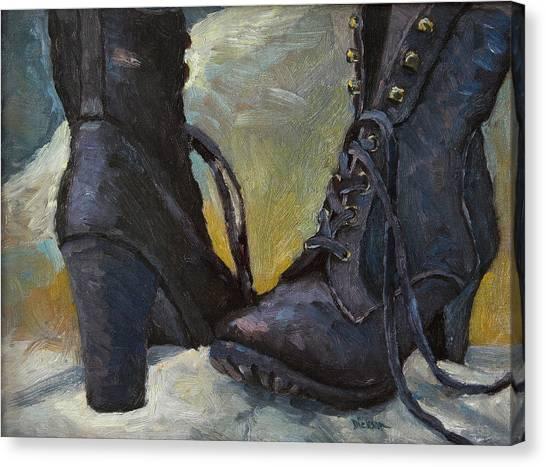 Ali's Boots Canvas Print