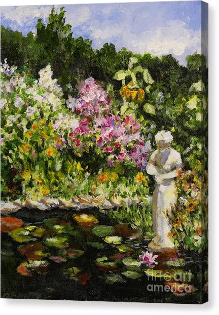 Alisons Water Garden Canvas Print