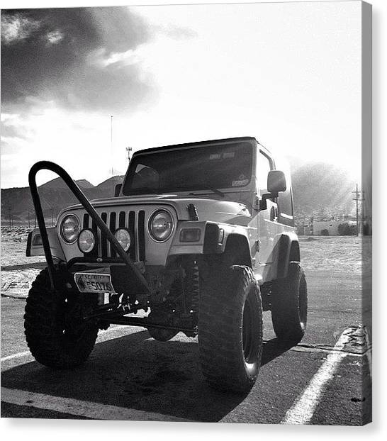 Offroading Canvas Print - @alissa__zamboni I'm Not Sure. Mine Is by James Crawshaw