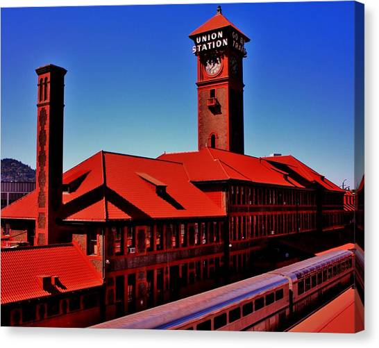 Amtrak Canvas Print - All Aboard by Benjamin Yeager