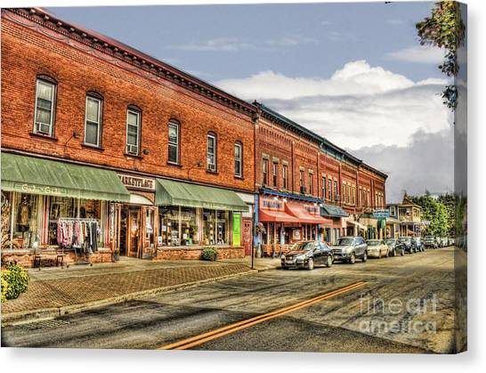 All Along Main Street Canvas Print