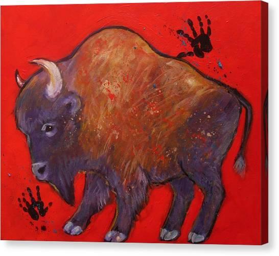 All American Buffalo Canvas Print