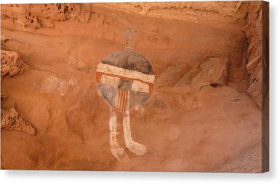 All American Man Pictograph Canvas Print