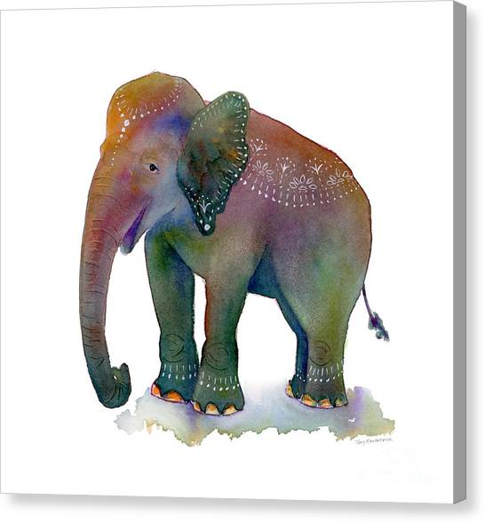 Elephants Canvas Print - All Dressed Up by Amy Kirkpatrick