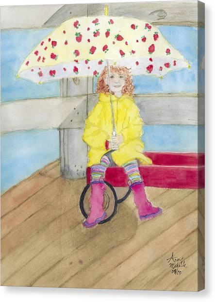 All Dressed Up And Ready For Rain Canvas Print