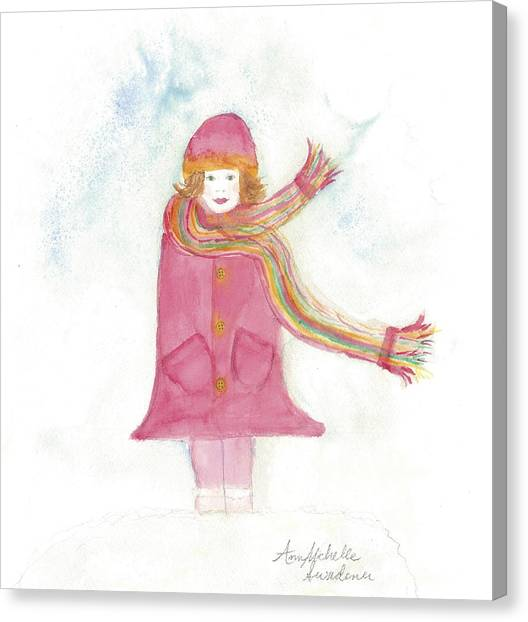 All Dressed Up And Ready For Snow Canvas Print