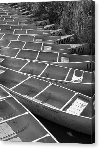 University Of Washington Canvas Print - All In A Row by Scott Campbell