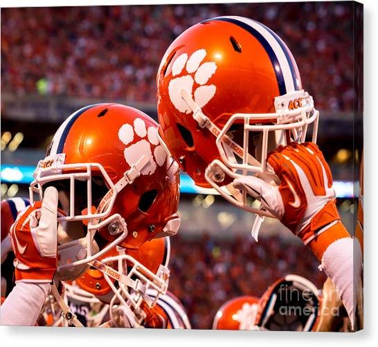 Clemson University Canvas Print - All In by Carlton Griffith
