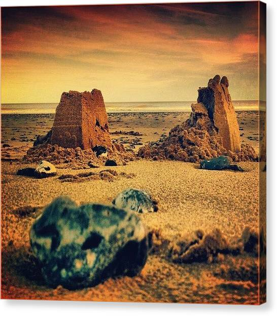 Sand Castles Canvas Print - ...all My Kingdoms Turn To #sand And by Alexandra Cook