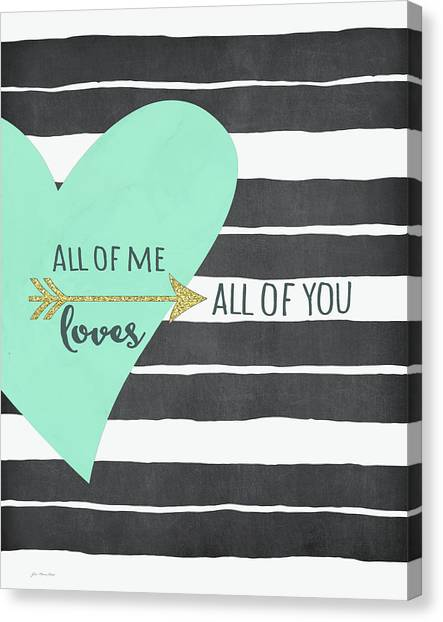 Wedding Day Canvas Print - All Of Me by Jo Moulton