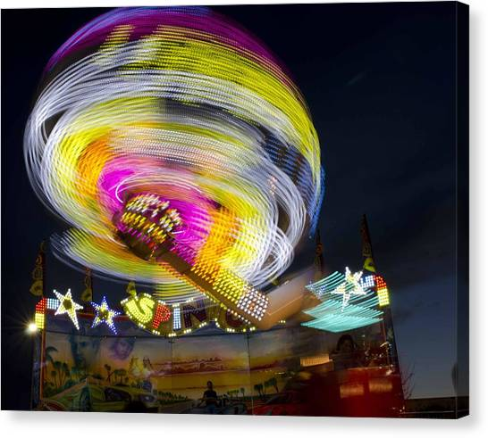All Of The Lights Canvas Print by Robert Holmberg