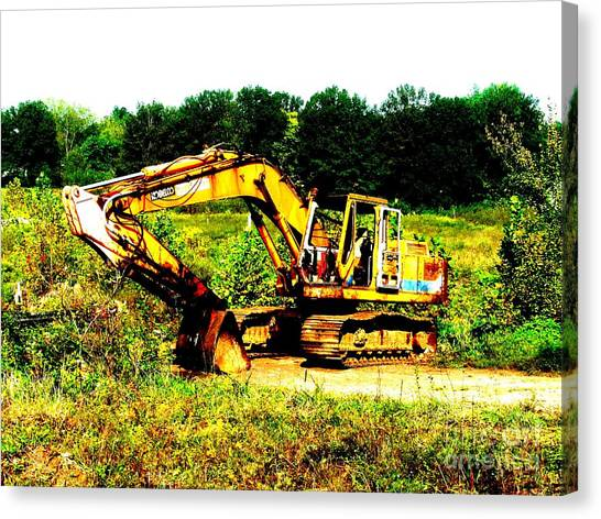 Caterpillers Canvas Print - All Ready For Duty IIi by Kip DeVore