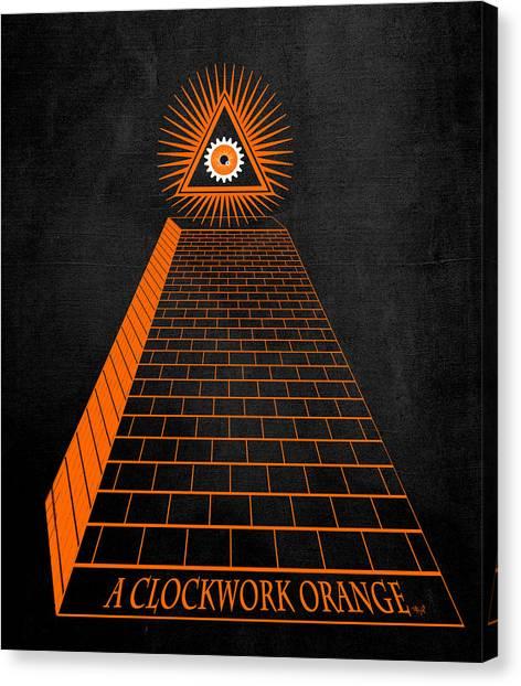 Clockwork Orange Canvas Print - All Seeing Oranage by Filippo B