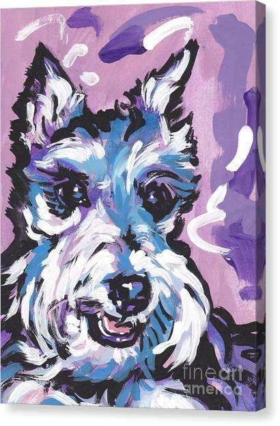 Schnauzers Canvas Print - All Smiles Schnau by Lea S