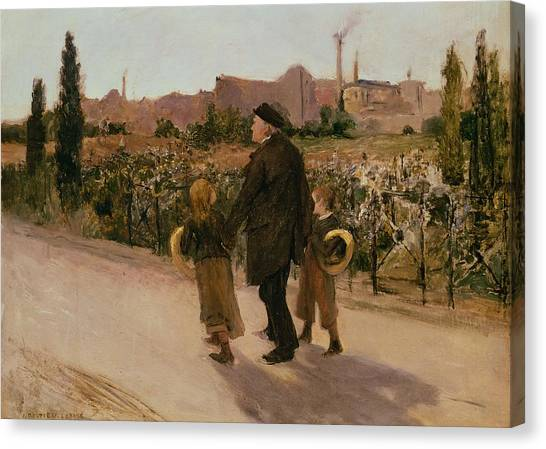 Crt Canvas Print - All Souls Day, C.1882 by Jules Bastien-Lepage