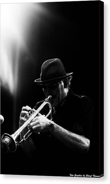 All That Jazz Canvas Print by Sheryl Thomas