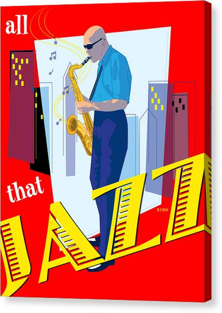 All That Jazz Canvas Print by Timothy Ramos