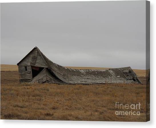 Canvas Print featuring the photograph All That Remains by Ann E Robson