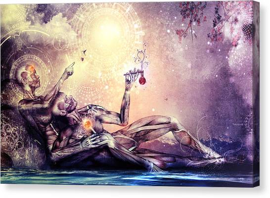 Surreal Canvas Print - All We Want To Be Are Dreamers by Cameron Gray