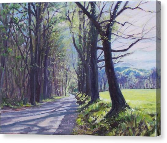 Old Country Roads Canvas Print - Alleghany Spring by Bonnie Mason